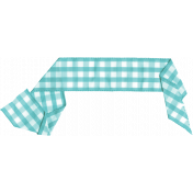 Summer Day- Teal Gingham Ribbon