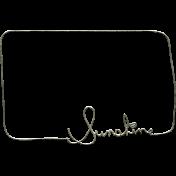 Summer Day- Sun Word Art Doodle Frame