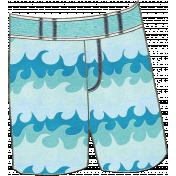 Summer Day- Swim Trunks Doodle