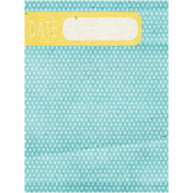 Summer Day- Date Tag Journal Card
