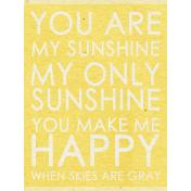 Summer Day- Sunshine Word Art Journal Card