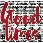Picnic Day- Good Times Word Art