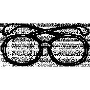 Eyeglass Doodle Template 001