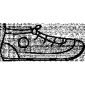 Shoe Doodle Template 004