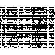 Animal Doodle Template 018