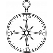 Compass Doodle Template 001