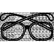 Eyeglass Doodle Template 002
