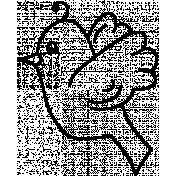 Bird Doodle Template 006