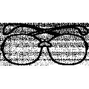 Eyeglass Doodle Template 003