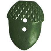 Back To Nature- Green Acorn Button