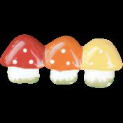 Back To Nature- Mushroom Barrette