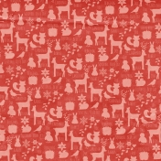 Back To Nature- Red Animal Doodle Paper