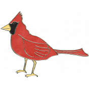 Back To Nature- Cardinal Doodle