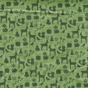 Back To Nature- Green Animal Doodle Paper
