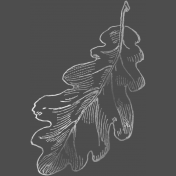 Back To Nature- Leaf Chalk Stamp 2