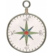 Back To Nature- Compass Doodle