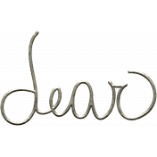 Back To Nature- Dear Word Art Doodle