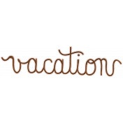 Back To Nature- Vacation Word Art Doodle