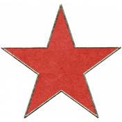 Back To Nature- Red Star Doodle