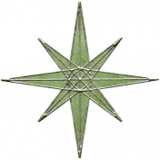 Back To Nature- Green Star Doodle