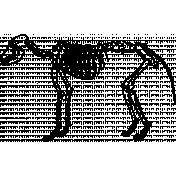Skeleton Stamp Template 020