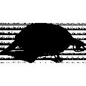 Skeleton Stamp Template 028