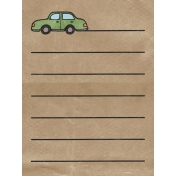 Back To Nature- Car Journal Card
