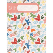 Back To Nature- Date Journal Card