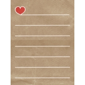 Back To Nature- Heart Journal Card