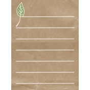 Back To Nature- Leaf Journal Card