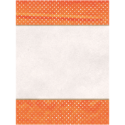 Back To Nature- Orange Dots Journal Card