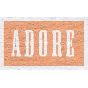 Enchanting Autumn Snippet Kit- Adore Word Art