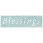 Enchanting Autumn- Blessings Word Art