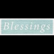 Enchanting Autumn Snippet Kit- Blessings Word Art