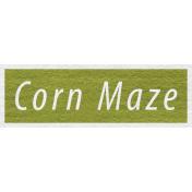 Enchanting Autumn Snippet Kit- Corn Maze Word Art