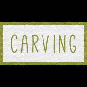Enchanting Autumn- Carving Word Art