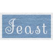 Enchanting Autumn- Feast Word Art