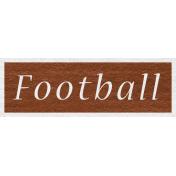 Enchanting Autumn- Football Word Art