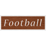 Enchanting Autumn Snippet Kit- Football Word Art