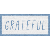 Enchanting Autumn Snippet Kit- Grateful Word Art