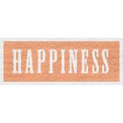 Enchanting Autumn Snippet Kit- Happiness Word Art