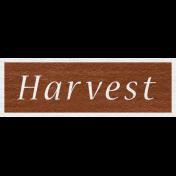 Enchanting Autumn- Harvest Word Art
