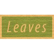 Enchanting Autumn- Leaves Word Art