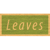 Enchanting Autumn Snippet Kit- Leaves Word Art