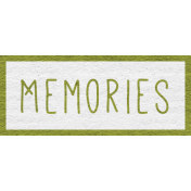 Enchanting Autumn Snippet Kit- Memories Word Art