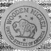 Wooden Nickel Template 01