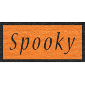 Enchanting Autumn Snippet Kit- Spooky Word Art