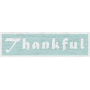 Enchanting Autumn- Thankful Word Art