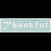 Enchanting Autumn Snippet Kit- Thankful Word Art