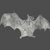 Chills & Thrills Bat Chalk Skeleton Stamp
